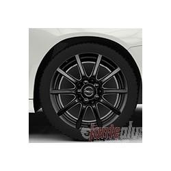 Roues complètes Hiver 16 pouces pour Audi A3 : Jantes Proline CX100 finition noire caches centraux look carbone 7X16 ET48 5X112 et Pneumatiques Starmaxx Icegripper 205/55/16 91H